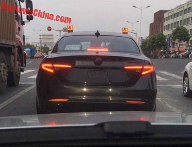 Spy Shots: Alfa Romeo Giulia Testing In China