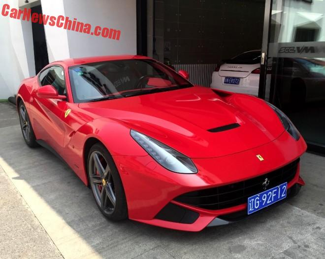 Ferrari F12berlinetta Has A License In China