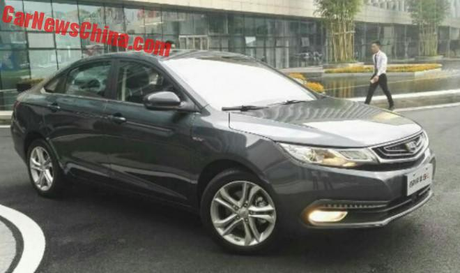 New Photos Of The Geely Emgrand GL Sedan For China