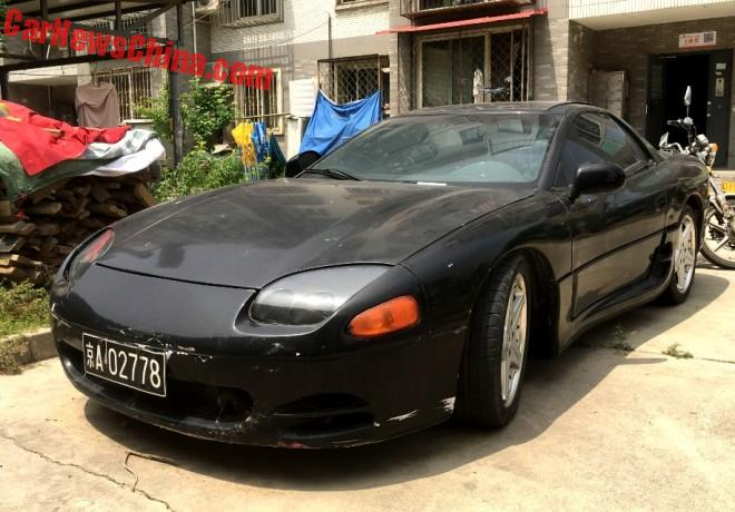 Spotted In China: Mitsubishi 3000GT In Black (Red Really)