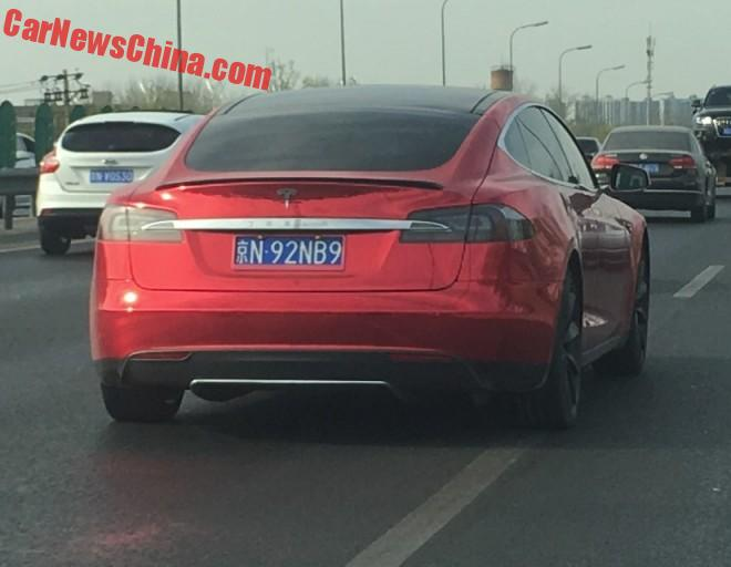 Tesla Model S Is Shiny Pink In China