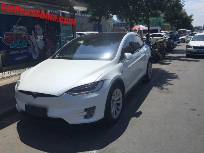 First Tesla Model X Seen On The Road In Beijing
