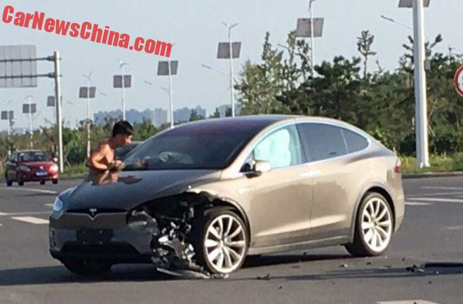 Tesla Model X Crashed In China