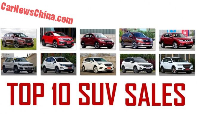 Top 10 Best Selling SUVs In China In June
