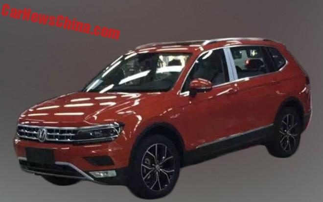 Spy Shots: Long-Wheelbase Volkswagen Tiguan Is Ready For China