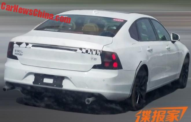 Spy Shots: Volvo S90L Is Getting Ready For China