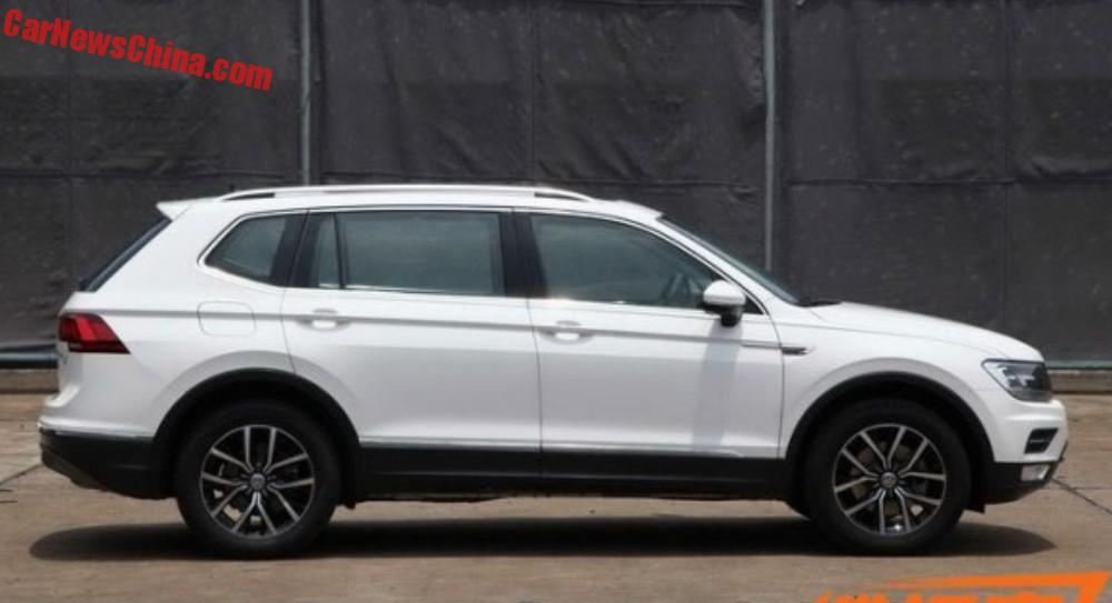 Spy Shots : Volkswagen Tiguan L Is Naked In China