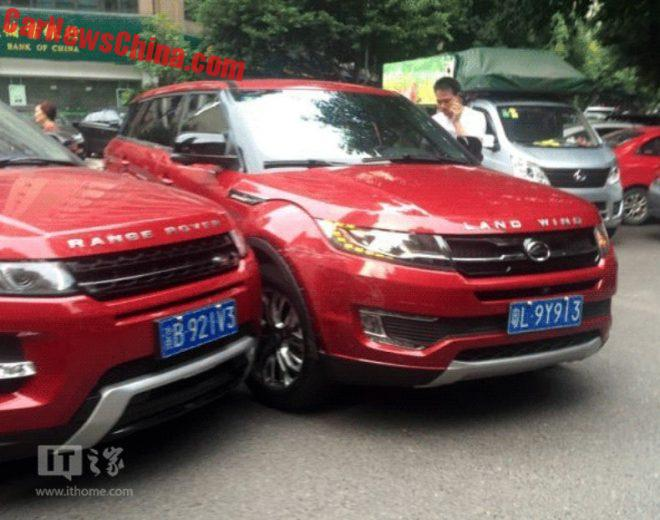 Crash Of The Year: Range Rover Evoque Hits Landwind X7 In China