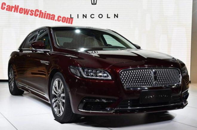 Lincoln Continental Will Hit The Chinese Car Market On September 2