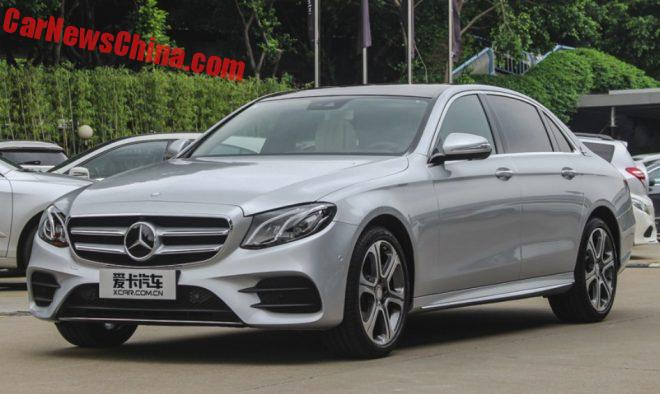 Mercedes-Benz E-Class L Launched On The Chinese Car Market