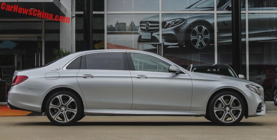Mercedes benz e class l launched on the chinese car market for Mercedes benz b service cost
