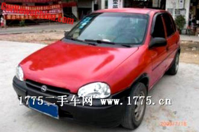 China Car History: The China-Made Opel Corsa B Hatchback