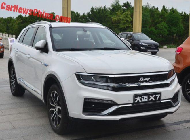 Zotye Damai X7 Officially Debuts In China