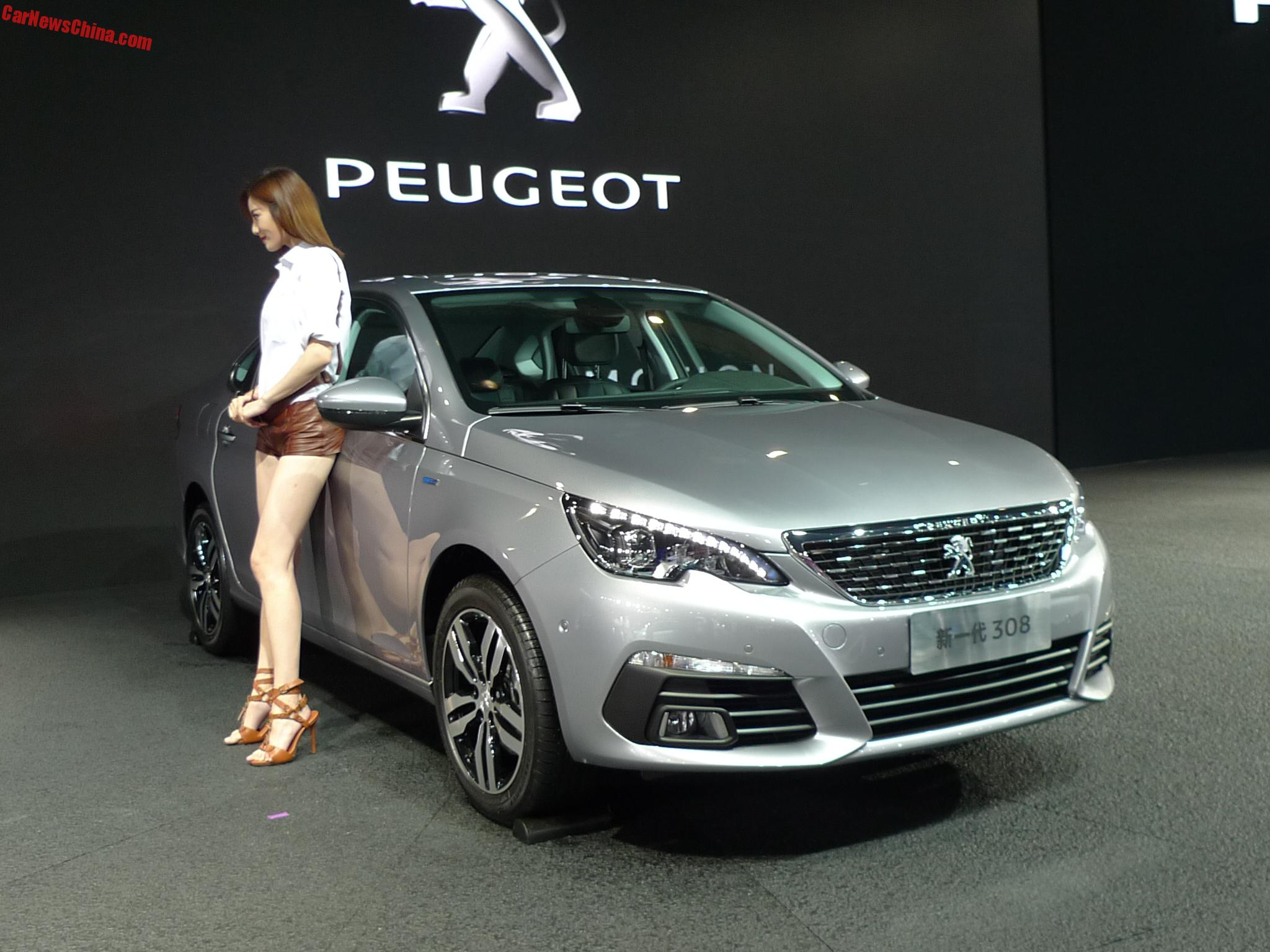 new peugeot 308 sedan launched on the chengdu auto show. Black Bedroom Furniture Sets. Home Design Ideas