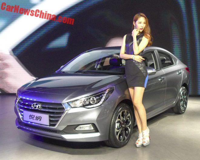 New Hyundai Verna Hits The Chengdu Auto Show In China