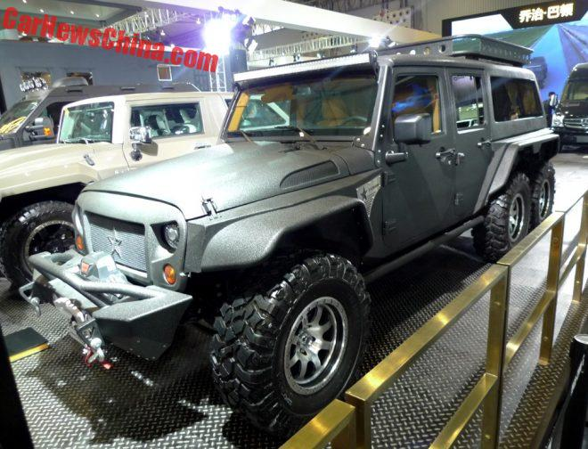 J. Patton Tomahawk Is A Jeep Wrangler 6x6 For China