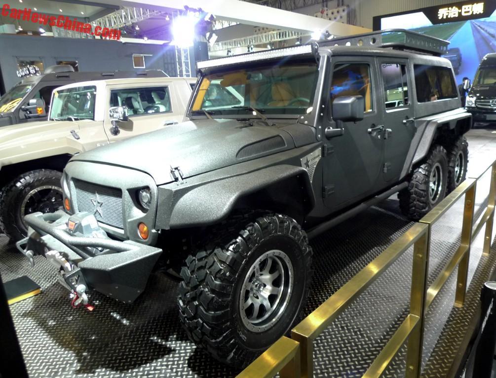 G. Patton Tomahawk Is A Jeep Wrangler 6x6 For China - CarNewsChina.com