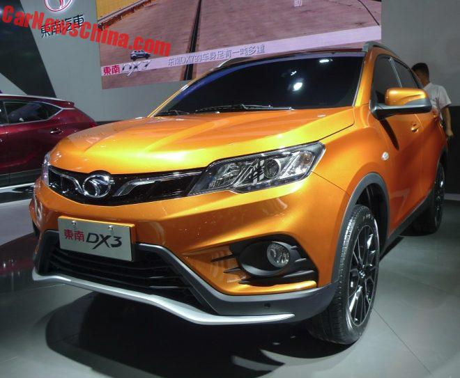 SouEast DX3 SUV Debuts On the Chengdu Auto Show In China