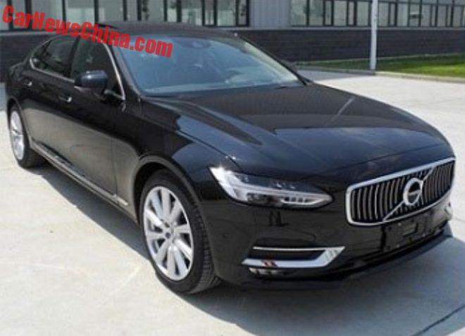 First Photos Of The Volvo S90L For China