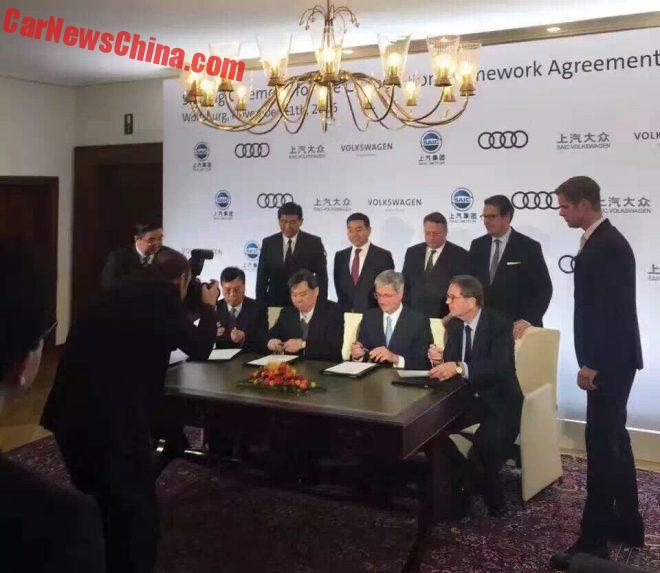 Volkswagen And SAIC Sign New Joint Venture To Make Audis In China