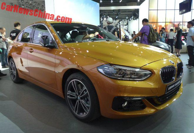 BMW 1-Series Sedan Hits The Guangzhou Auto Show In China