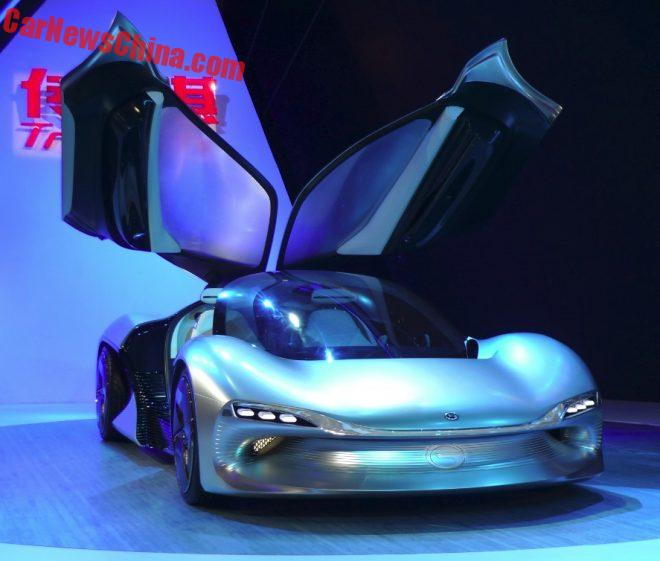 Guangzhou Auto Trumpchi EnLight Electric Supercar Lightens Up The Guangzhou Auto Show