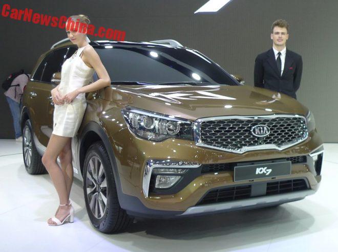 Kia KX7 SUV Debuts On The Guangzhou Auto Show In China