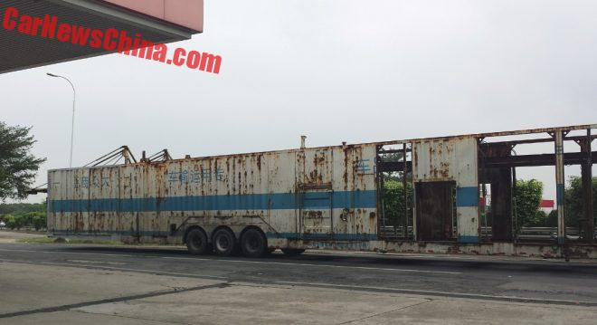 This Is The Longest Car Transport Truck In China, And The World