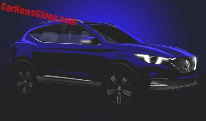 MG Teases New ZS SUV For The Guangzhou Auto Show In China