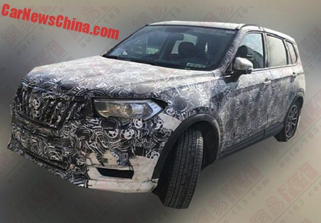 Spy Shots: Brilliance V7 SUV Testing In China
