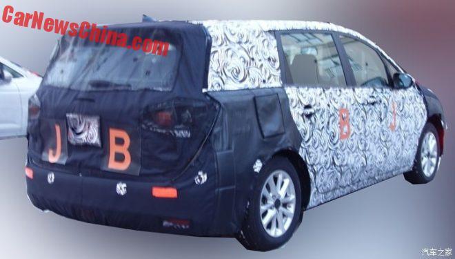 Spy Shots: Buick GL6 MPV Testing In China