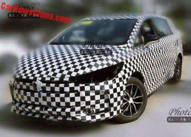 Spy Shots: BYD M5 MPV Testing In China