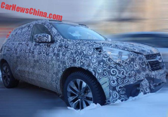 Spy Shots: New Chery SUV Testing In China