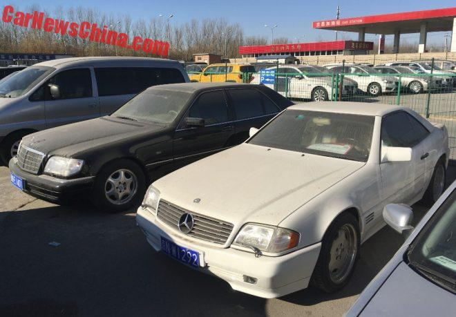 Spotted In China: R129 Mercedes-Benz SL500 And W140 S320