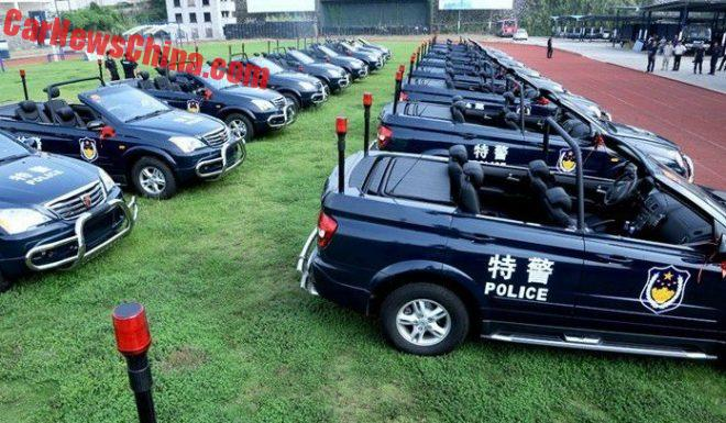 Roewe W5 Open Police Patrol Car Is In Production In China