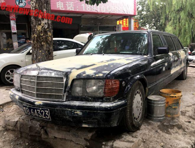 Spotted In China: Trasco 1000 SEL W126 Mercedes-Benz Stretched Limousine