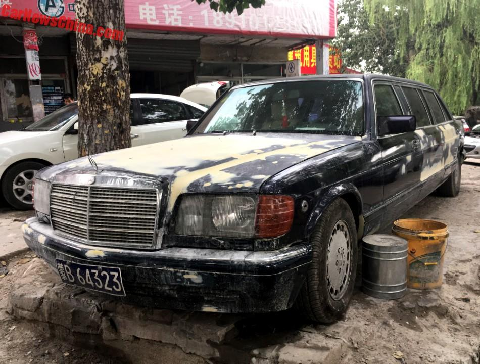 spotted in china trasco 1000 sel w126 mercedes benz stretched