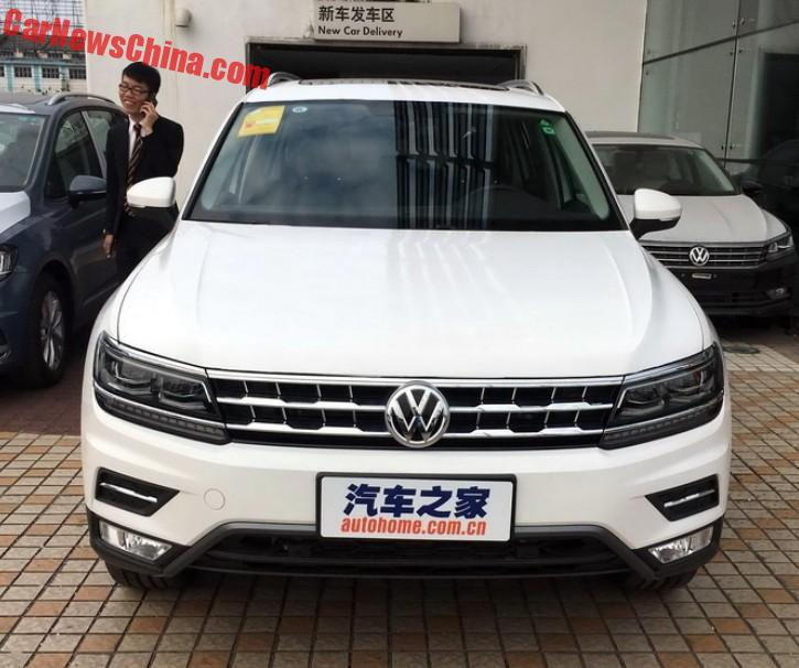 New Photos Of The Long-wheelbase Volkswagen Tiguan L For