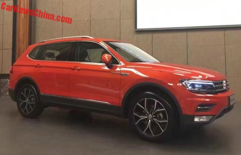 Spy Shots: Volkswagen Tiguan L Is Orange And Naked In