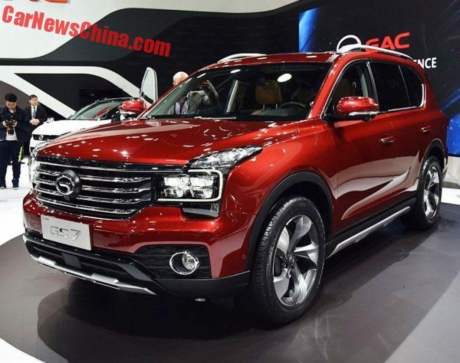 Guangzhou Auto GS7 SUV Debuts On The Detroit Auto Show