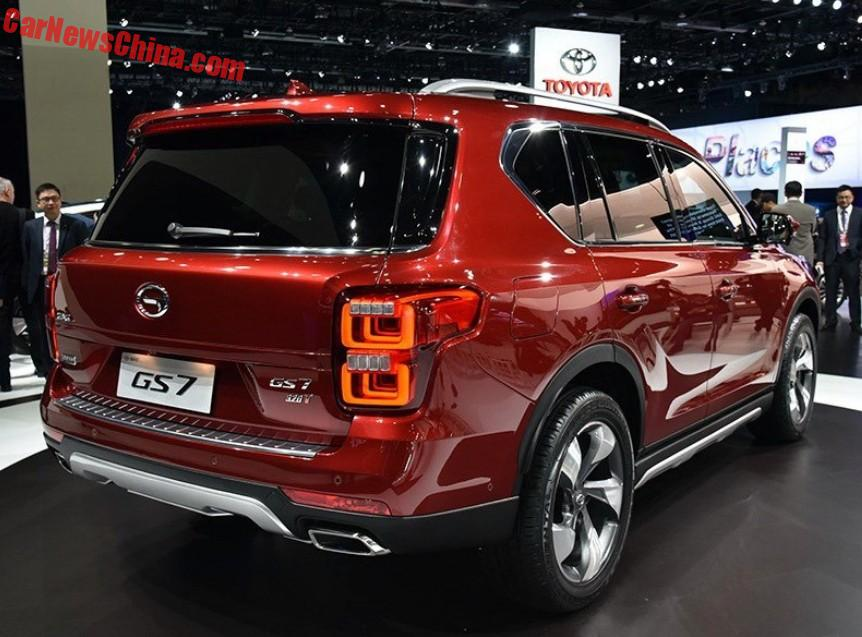guangzhou auto gs7 suv debuts on the detroit auto show. Black Bedroom Furniture Sets. Home Design Ideas