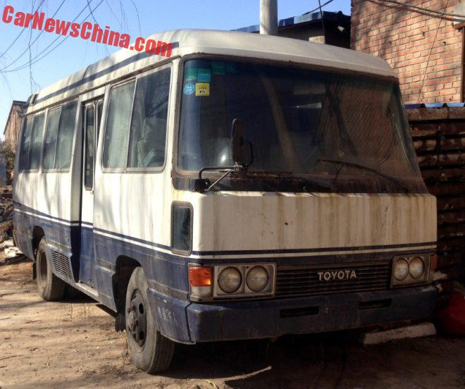Spotted In China: Second Generation Toyota Coaster Deluxe