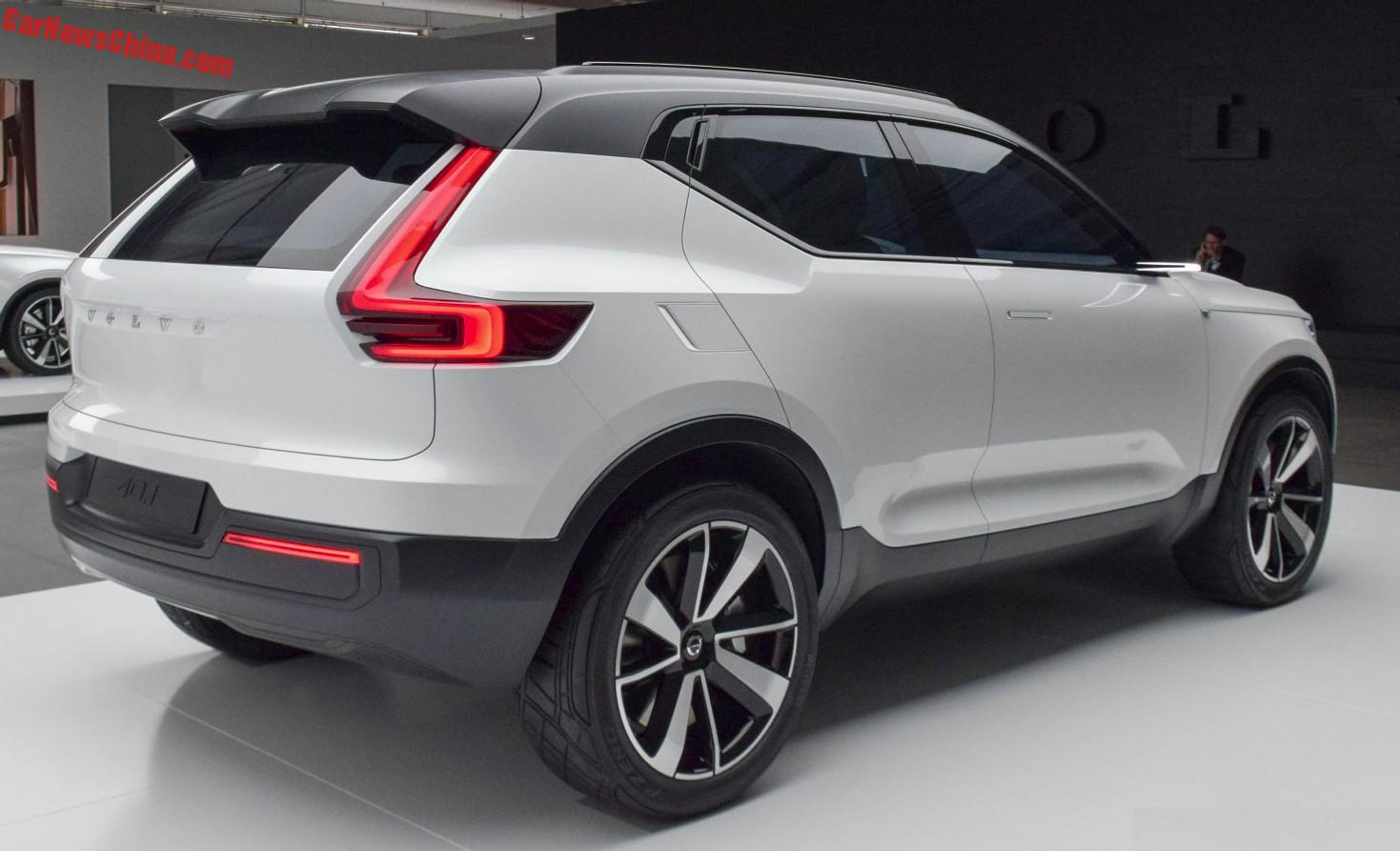 volvo xc40 compact suv to debut on the shanghai auto show in april. Black Bedroom Furniture Sets. Home Design Ideas