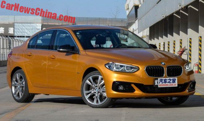 BMW 1-Series Sedan Will Hit The Chinese Car Market On February 27