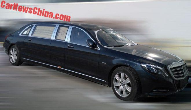 Spy Shots: Mercedes-Maybach S600 Pullman Is A Huge Black Barge In China