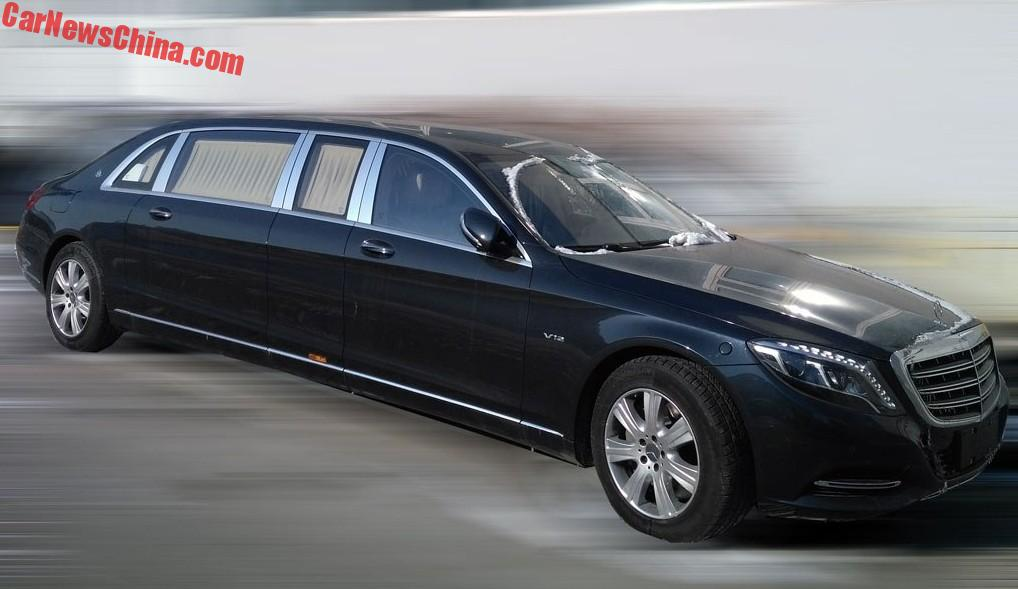 spy shots: mercedes-maybach s600 pullman is a huge black barge in