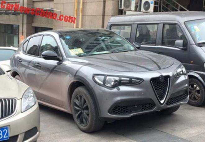 Spy Shots: Alfa Romeo Stelvio SUV Testing In China