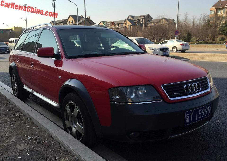 spotted in china c5 audi a6 allroad quattro in red. Black Bedroom Furniture Sets. Home Design Ideas