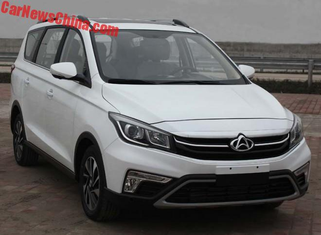 First Photos Of The Changan A800 MPV For China