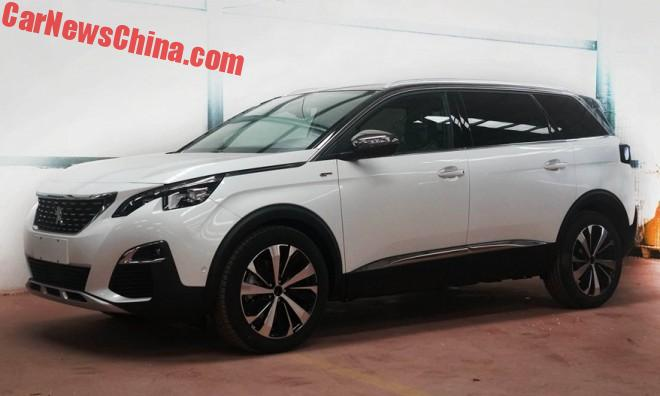 Spy Shots: The Peugeot 5008 GT Line Is A Sporty Seven-Seat SUV For China